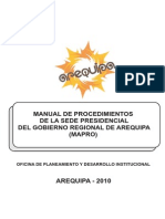01 Documentos Normativos Gestion_Manual Procedimientos_mapro2010