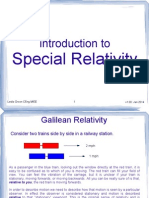 an introduction to Special Relativity