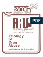 Etiology of Drug Abuse Implications for Prevention