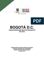 Perfil Educativo Bogota 2012