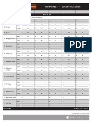 P90X3 Worksheets   Recreation   Management Of Obesity