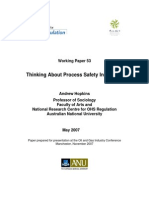 Hopkins Thinking About Process Safety Indicators