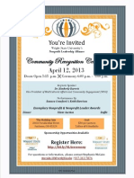 6 h- ceremony flyer