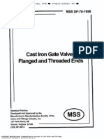 MSS SP 70.98-Cast Iron Gate Valves-(1998)