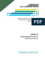 PRETEC - Cerámica - Cerámica Artesanal y Artística - Desarrollo Curricular