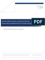 Essentials of Demand Forecasting and Replenishment for Retail and Distribution