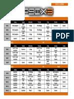 P90X3 Calendar Doubles