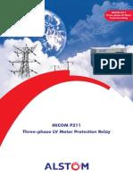 Micom P211 OC & EF Relay