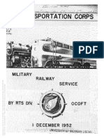 Transportation Corps Military Railway Service 1953