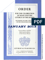 ORDO 2013/2014 Order for celebrations in January
