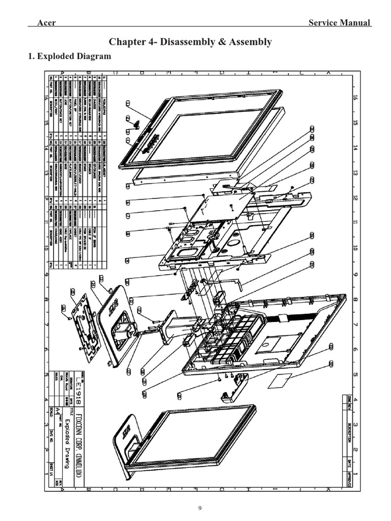 Acer TFT-LCD Color Monitor AL1917 Service Manual (LE1918) (1)