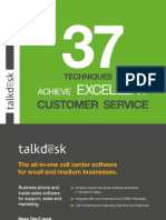 Talkdesk 37 Techniques to Achieve Excellent Customer Service