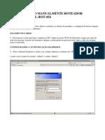 Configurando Manualmente Roteador Multilaser Ml