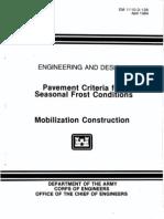 EM 1110-3-138 - Pavement Criteria for Seasonal Frost Conditions - Mobilization Construction