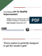 Intro Quality Improvement