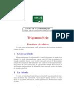 MATHEMATIQUES Premiere TRIGONOMETRIE Fonctions Circulaires
