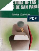 Garrido Javier - Relectura de Las Cartas de San Pablo