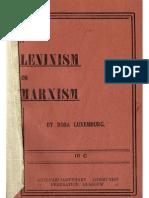 Marxism vs Leninism, Rosa Luxemburg