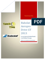 Test Tennis Time - Babolat Aeropro Drive GT 2013