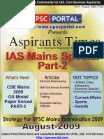 Aspirants Times Magazine Vol5 - August 2009