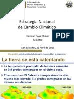estrategia nacional de cambio climatco el salvador