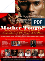 BWB Mother Tongue Monologues Press Kit