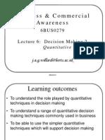 B&W Presentation 06 - Decision Making 2 Quantitative