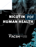 The effects of nicotine on human health - Consumer version