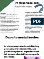 Estructura Organizacional. departamentalizacion