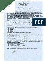 List of Programs Class XI 2009-10