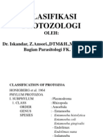 B. Klasifi Protozoologi