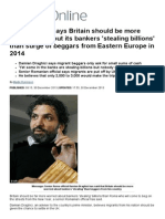 Damian Draghici ,Senior Roma Says UK Should Worry About Bankers Not Romanian Beggars _ Mail Online