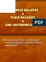 Acid Base and Fluid Balance and ABG Interpretation