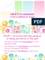 MUET Grammar - Past Continuous Tense