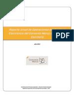 Reporte Anual de Operaciones del Catálogo Electrónico del Convenio Marco de Útiles de Escritorio.(2012)