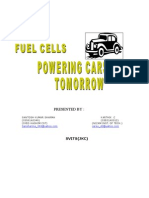 Fuel Cells Powering Cars of Tomorrow