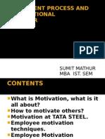 Project on motivation, motivation at tata steel, powerpoint presentation
