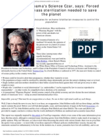 Eco Science Quotes Obama Science Czar Holdren