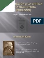 CRÍTICA DE LA RAZÓN PURA  ANÁLISIS DEL PRÓLOGO- Introduccion