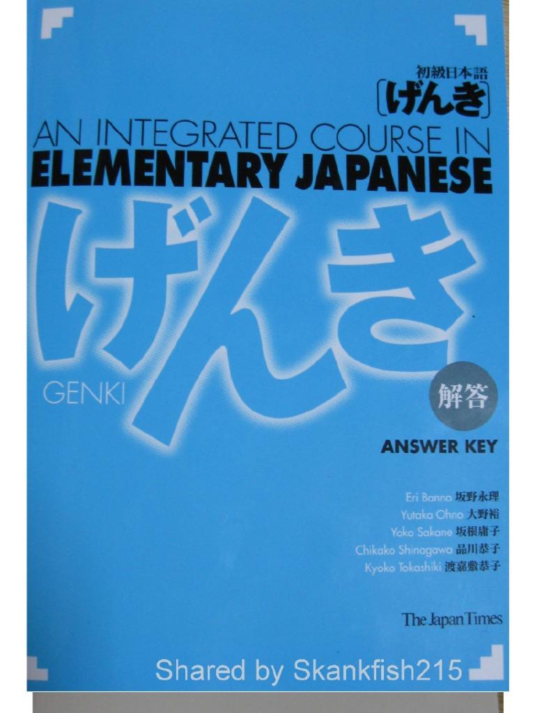 Workbooks genki 2 workbook answers : Genki Answer Key