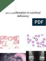 Skin Manifestation in Nutritinal Deficiency