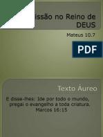 A Missão no Reino de DEUS