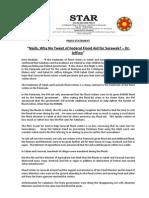 PressRelease-2014-Why No Tweet of Federal Flood Aid for Sarawak-02 Jan 2014