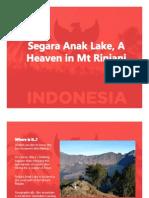 Segara Anak Lake of Mt Rinjani