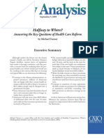 Halfway to Where? Answering the Key Questions of Health Care Reform, Cato Policy Analysis No. 643