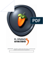 Fl Studio Getting Started manual en español