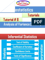 Pharmatox Analysis of Variance Presentation