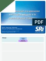 Ecuador - Byron Vásconez - Proceso Planificación del SRI (BV) 31 de julio de 2009