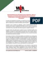 Movimiento Nueva República dice NO a Proreforma