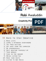 How to Be Creative. Robi. Intro